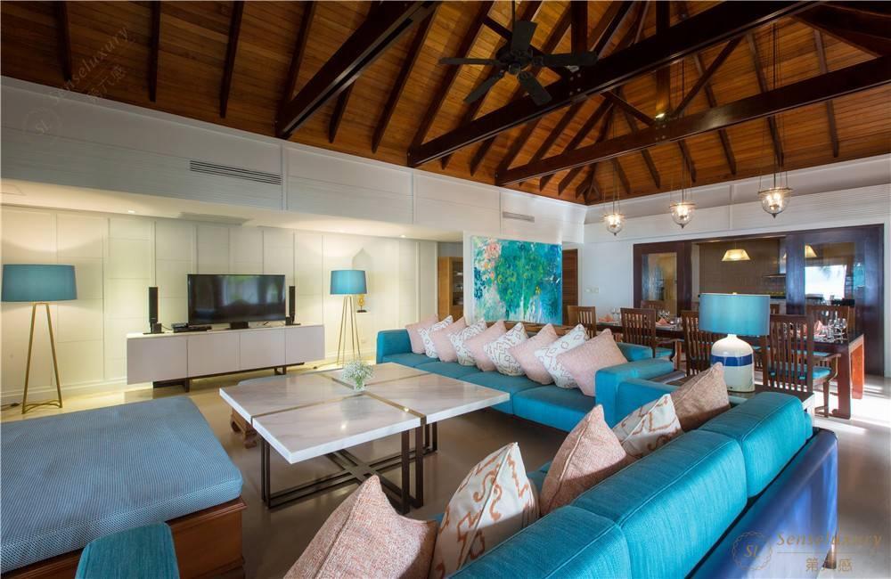 泰国苏梅岛密斯卡湾金合欢别墅客厅内景