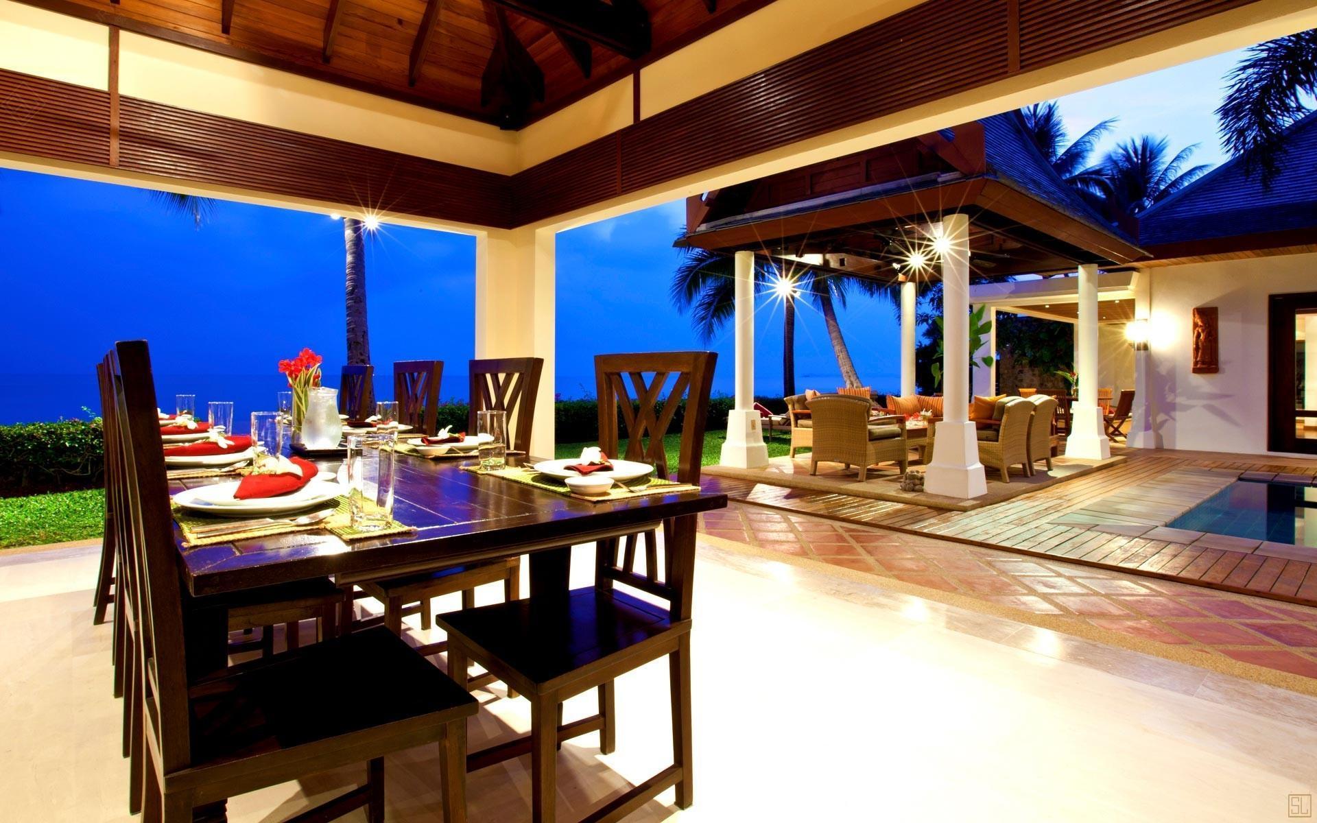 泰国苏梅岛密斯卡湾黄兰别墅餐厅