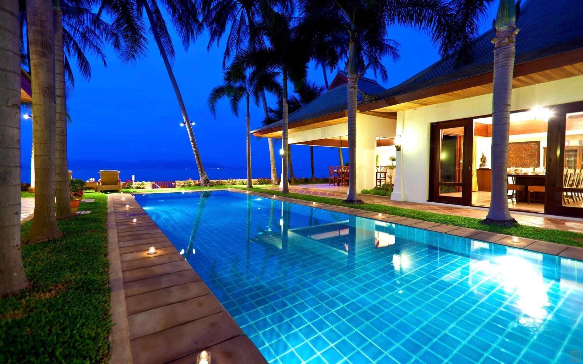泰国苏梅岛密斯卡湾素馨别墅独立泳池