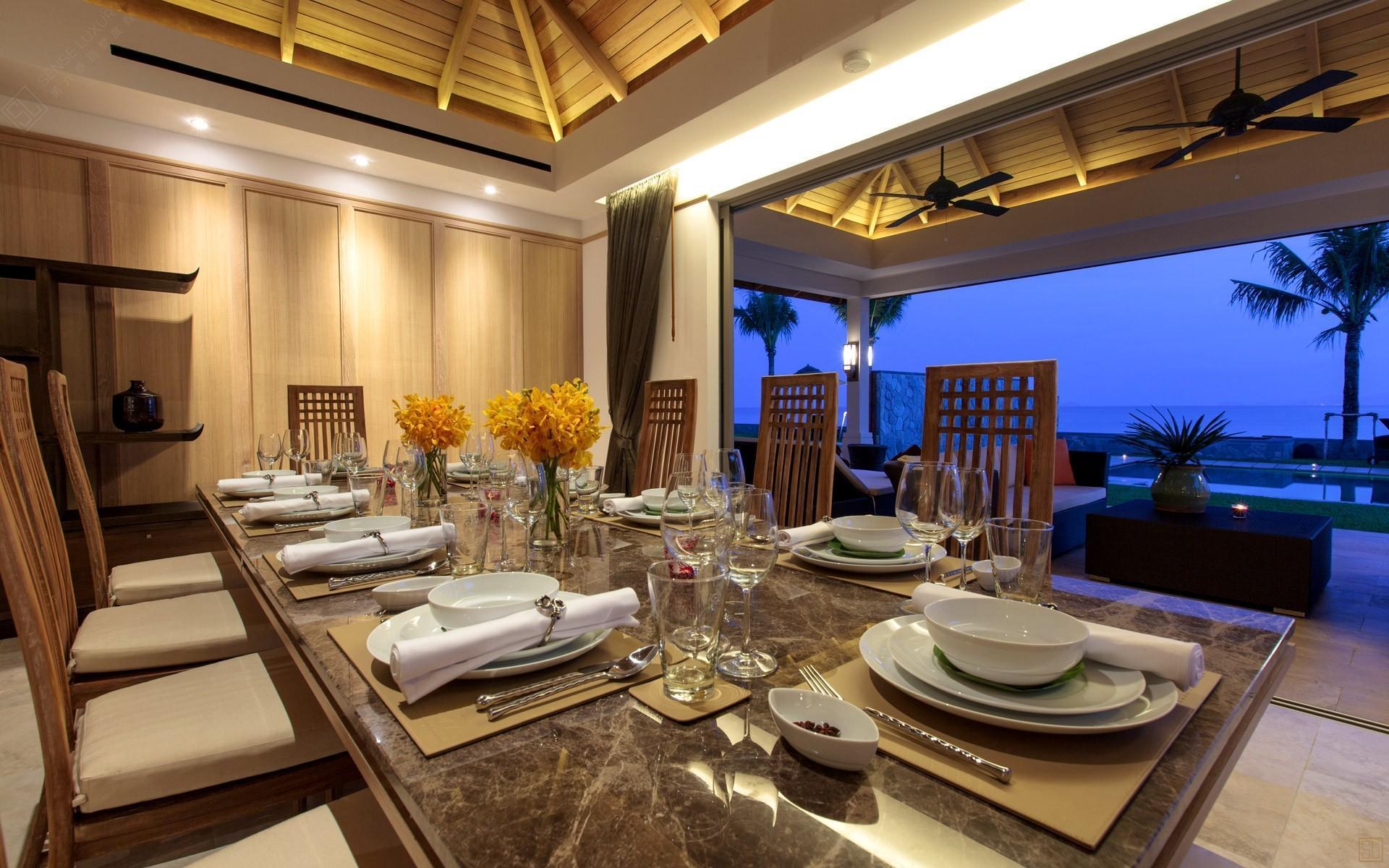 泰国苏梅岛密斯卡湾吾玉别墅餐厅