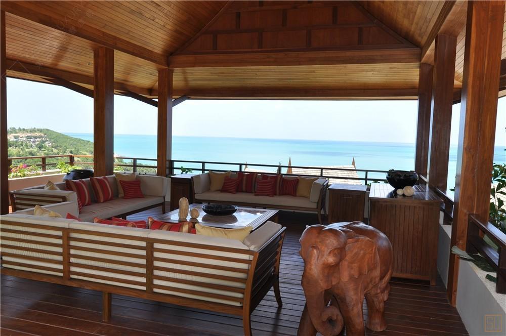 泰国苏梅岛嘉卡湾别墅休息区