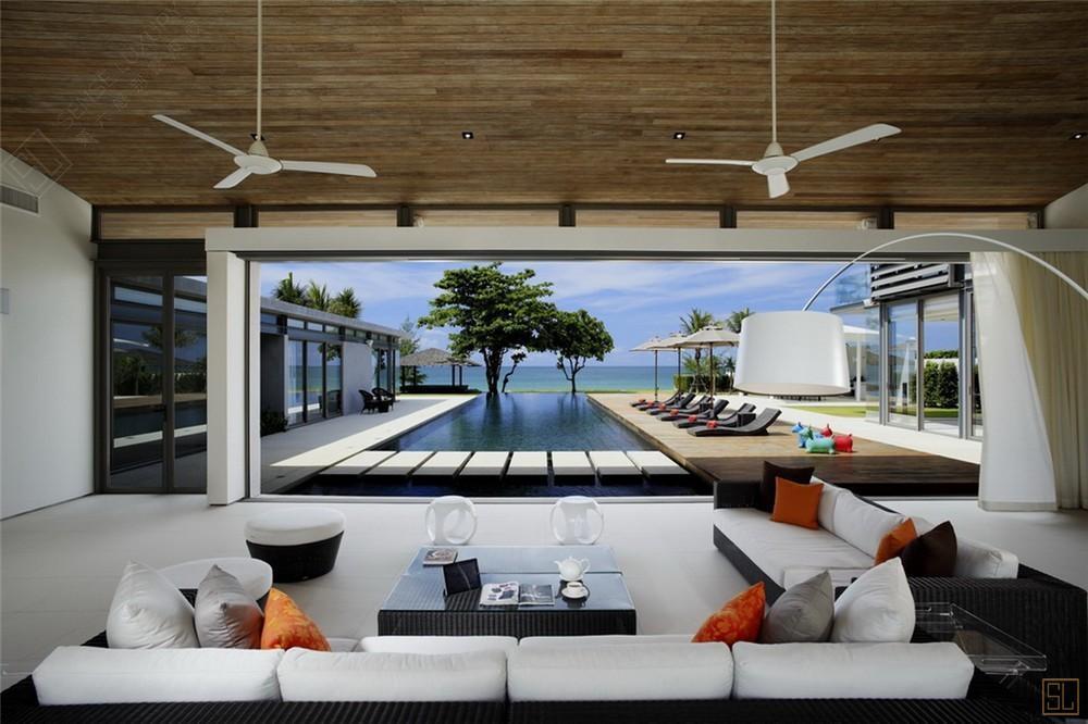 泰国普吉岛夏尔别墅客厅