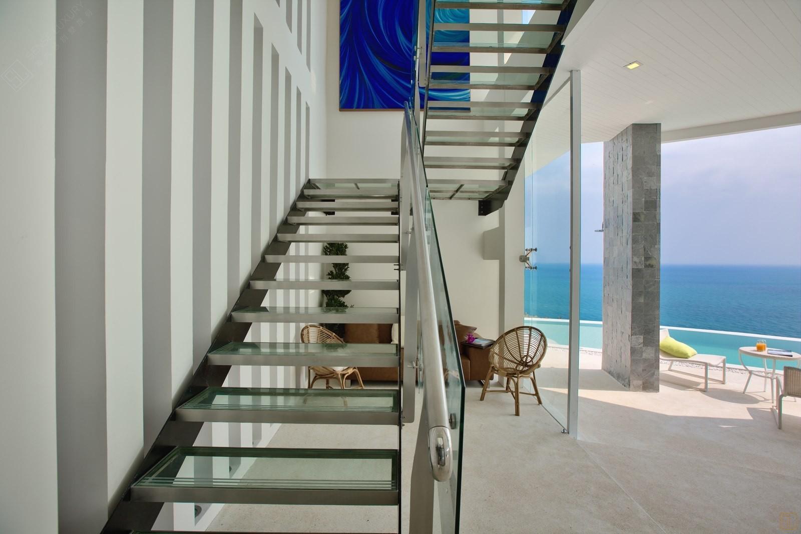 泰国苏梅岛萨瓦蒂别墅楼梯