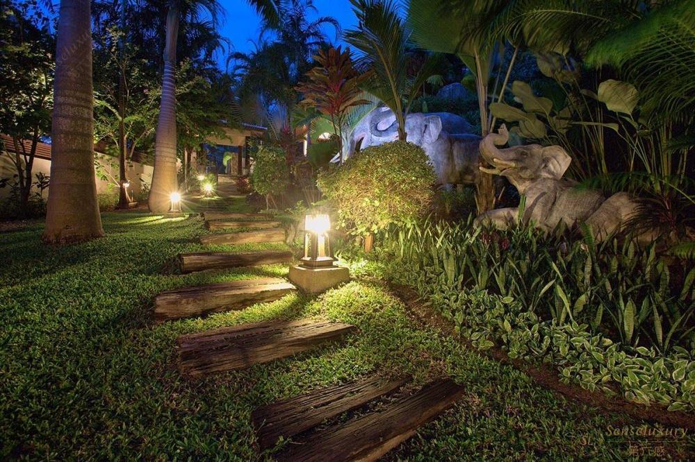 泰国苏梅岛象语别墅庭院