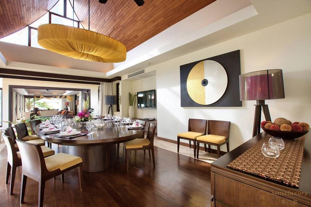 泰国苏梅岛象语别墅用餐区