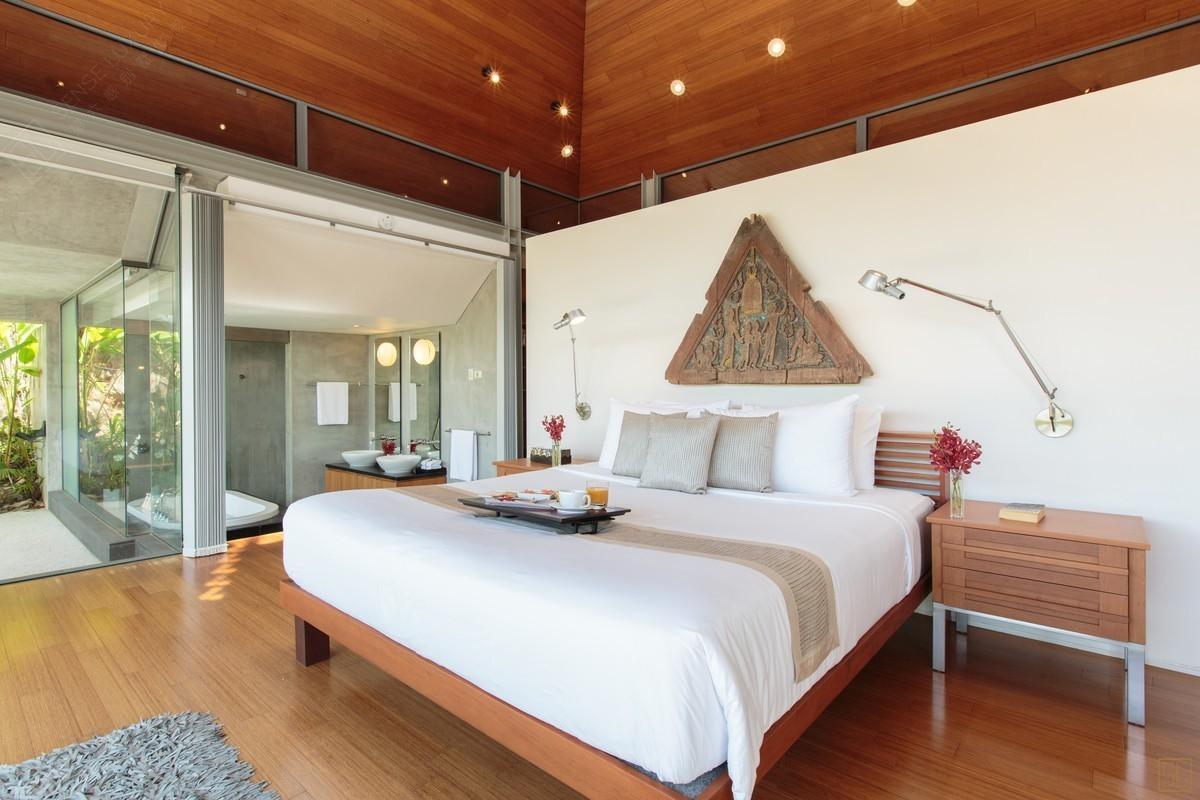 泰国普吉岛萨姆萨拉-班雅诗瑞别墅卧室