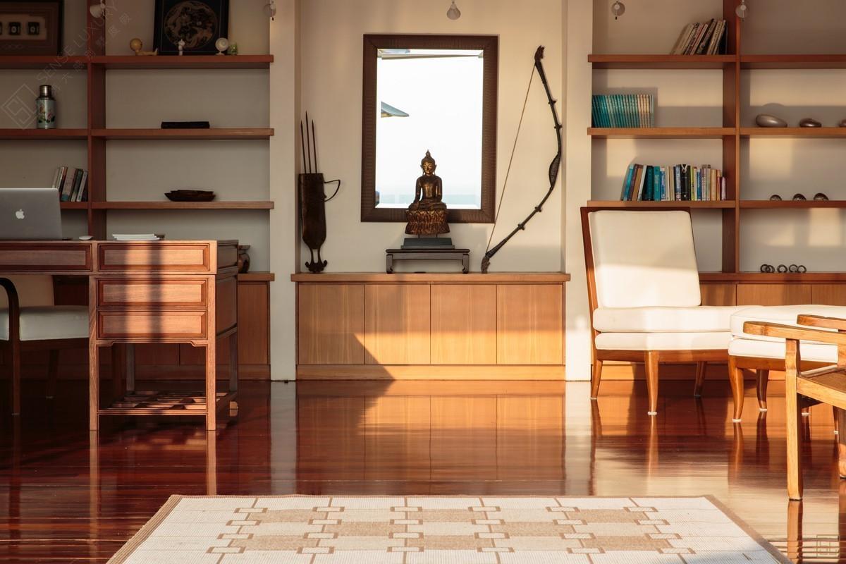 泰国普吉岛萨姆萨拉-洛梦池别墅客厅